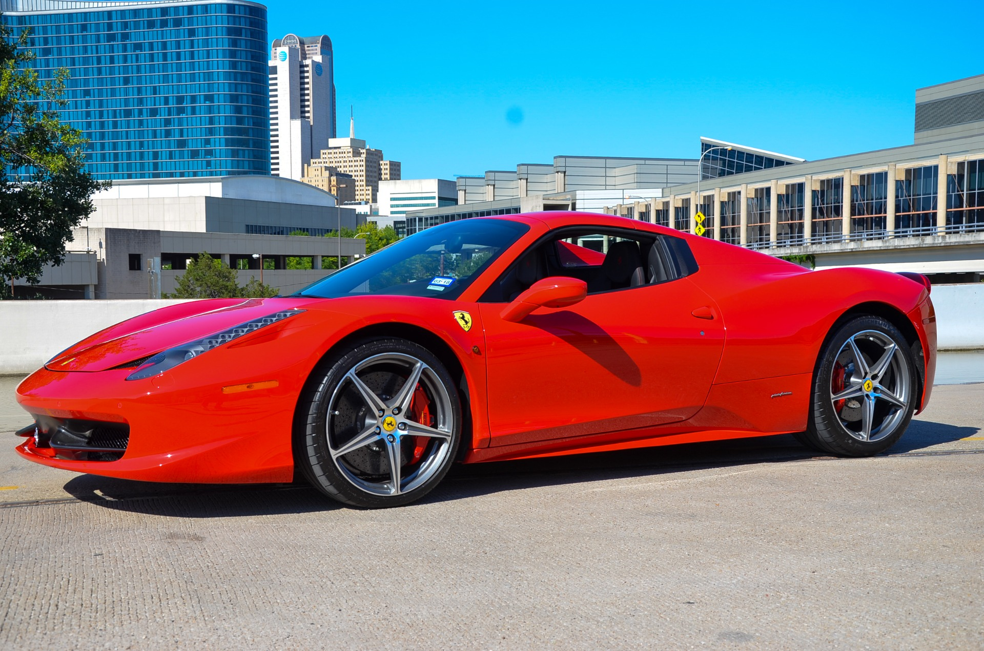 Used 2014 Ferrari 458 Spider for sale Sold at Platinum Motorcars in Dallas TX 75247 1